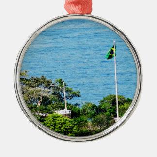 Brazil Silver-Colored Round Decoration