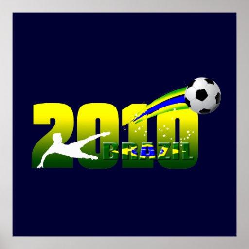 Brazil Soccer 2010 logo artwork gifts Poster