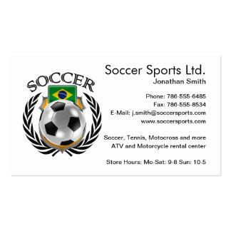 Brazil Soccer 2016 Fan Gear Pack Of Standard Business Cards