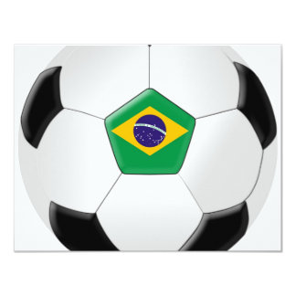Brazil Soccer Ball 11 Cm X 14 Cm Invitation Card