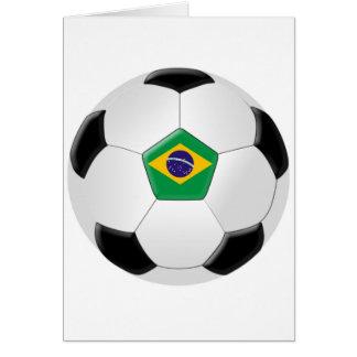 Brazil Soccer Ball Greeting Card