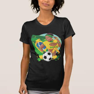 Brazil Soccer Ball Football T-Shirt