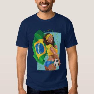 Brazil Soccer Ball Football T-shirts