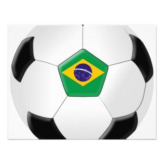 Brazil Soccer Ball Custom Invitations
