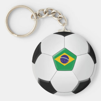 Brazil Soccer Ball Key Ring