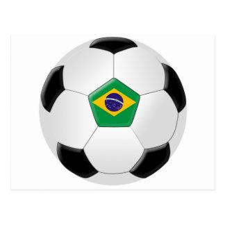 Brazil Soccer Ball Postcard
