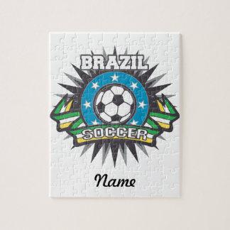 Brazil Soccer Burst Jigsaw Puzzle