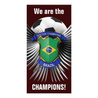 Brazil Soccer Champions Photo Greeting Card