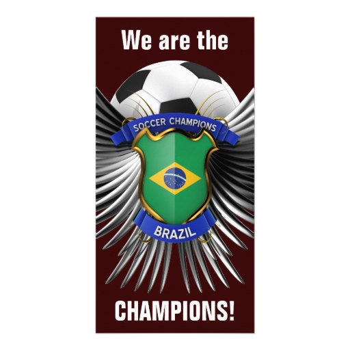 Brazil Soccer Champions Photo Greeting Card