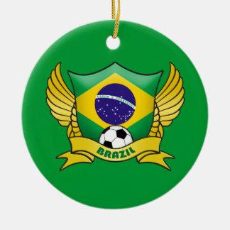 Brazil Soccer Circle Ornament