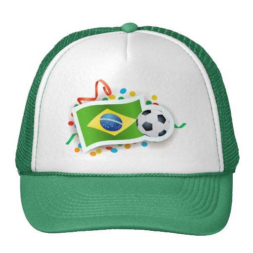Brazil, soccer design mesh hats