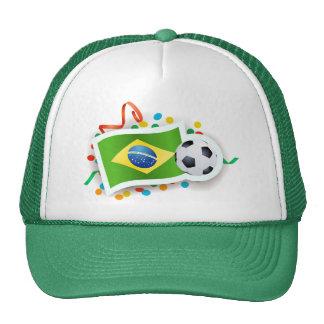 Brazil soccer design mesh hats