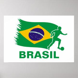 Brazil Soccer Flag Poster