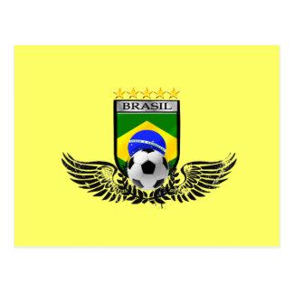 Brazil soccer shield for Brasileiro futebol fas Postcards