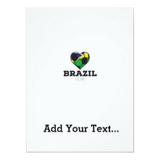 Brazil Soccer Shirt 2016 17 Cm X 22 Cm Invitation Card