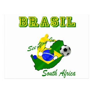 Brazil South Africa Qualifies Brasil T Postcard