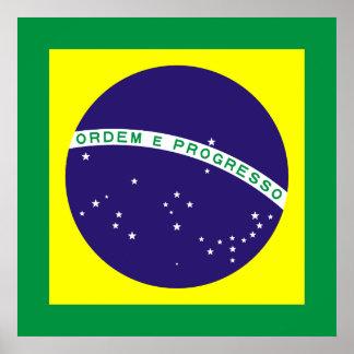 Brazil Square Flag Poster