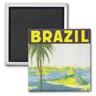 Brazil Square Magnet