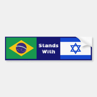 Brazil Stands With Israel Bumper Sticker