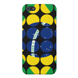 Brazil Stylish Girly Chic Polka Dot Brazilian Flag iPhone 5 Cases