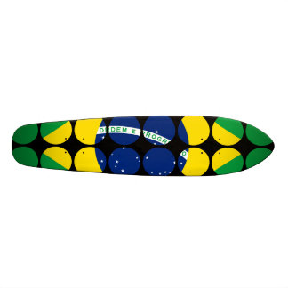 Brazil Stylish Girly Chic Polka Dot Brazilian Flag 19.7 Cm Skateboard Deck