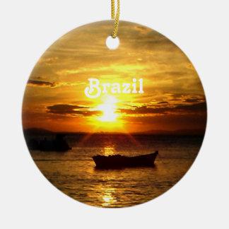 Brazil Sunset Christmas Ornament