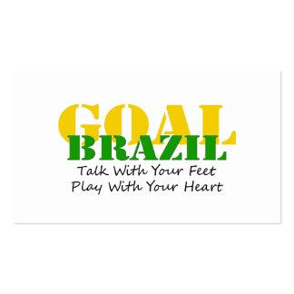 Brazil - Talk Feet Play Heart Pack Of Standard Business Cards
