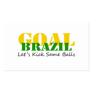 Brazil - Talk Let's Kick Some Balls Business Cards