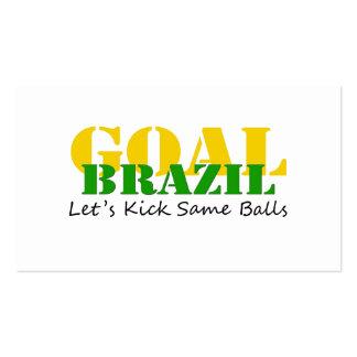 Brazil - Talk Let's Kick Some Balls Pack Of Standard Business Cards