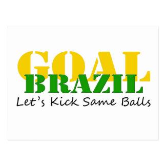 Brazil - Talk Let's Kick Some Balls Post Cards