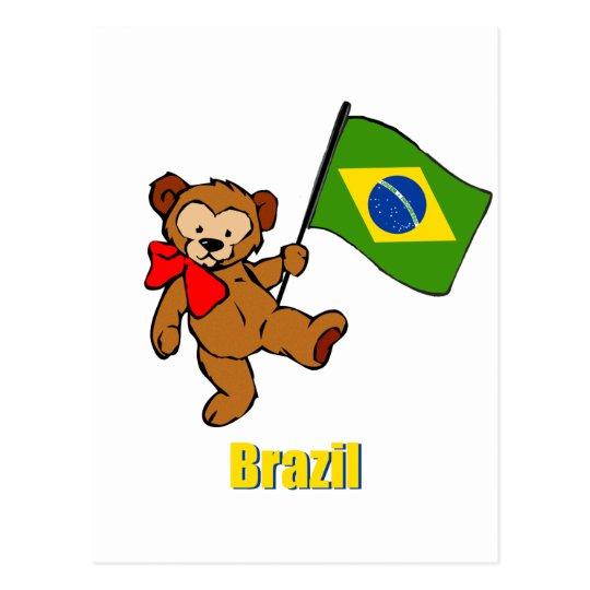 Brazil Teddy Bear Postcard