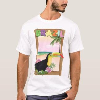 Brazil Toucan beach holiday poster T-Shirt
