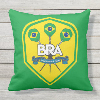 Brazil Traditional Pub Games Outdoor Cushion