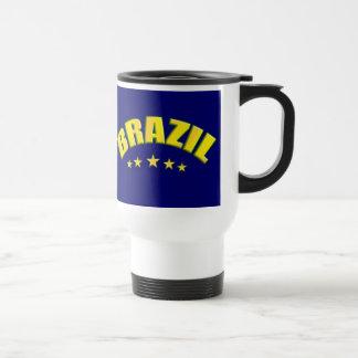 Brazil travel mug for busy Brazil soccer fans