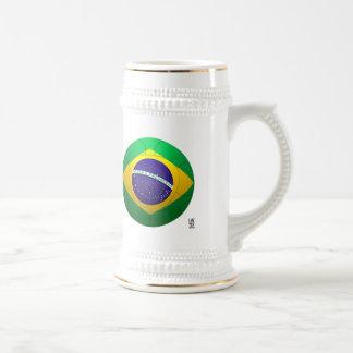 Brazil - Verde Amarela Football Beer Steins