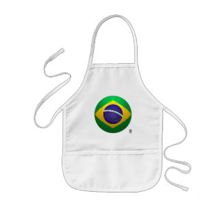 Brazil - Verde Amarela Football Kids Apron