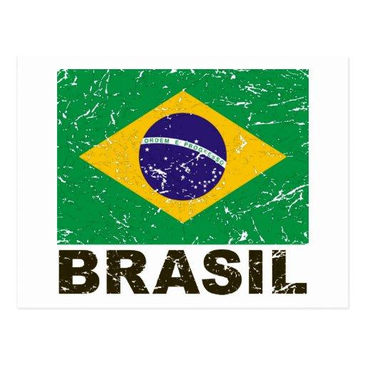 Brazil Vintage Flag Post Cards