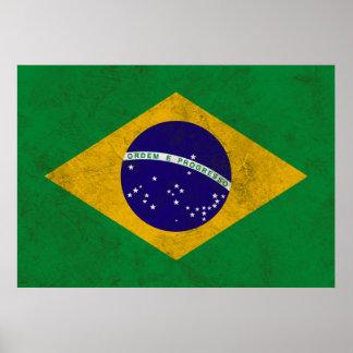 Brazil Vintage Flag Poster