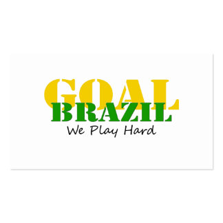 Brazil - We Play Hard Pack Of Standard Business Cards