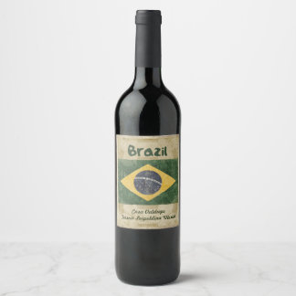 Brazil Wine Label