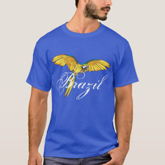 Brazil with parrot T-Shirt