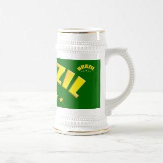Brazil World Champions Beer Mug
