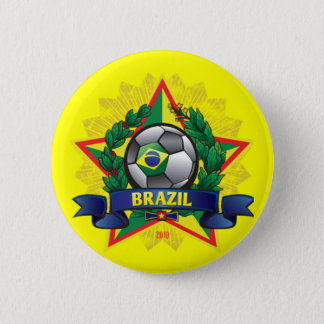 Brazil World Cup Soccer 6 Cm Round Badge