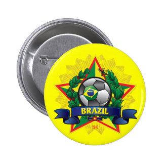 Brazil World Cup Soccer 6 Cm Round Badge