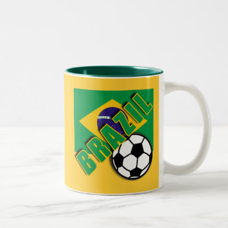 BRAZIL World Soccer Fan Tshirts Two-Tone Mug