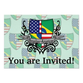 Brazilian-American Shield Flag 13 Cm X 18 Cm Invitation Card