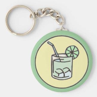 brazilian caipirinha cocktail basic round button key ring