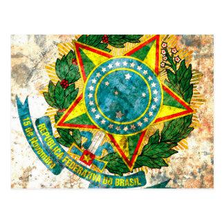 Brazilian Coat of Arms Postcard