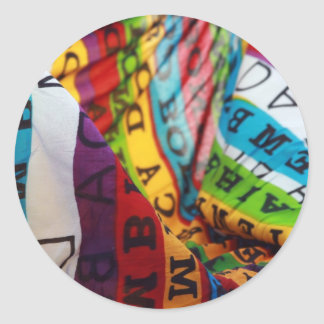brazilian colored lifestyle round sticker