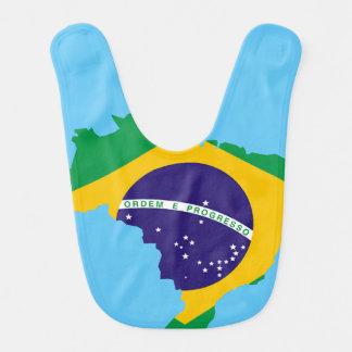 Brazilian country flag bib
